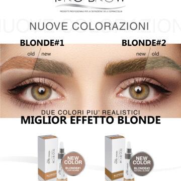 Nuove Colorazioni Pro Brow BLONDE 1 e 2